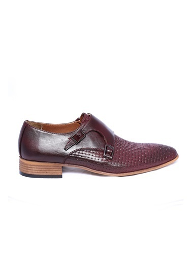 Wessi %100 Deri Çift Tokalı Ayakkabı Bordo